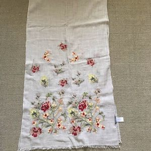 Jjill embroidered floral scarf worn once! for sale
